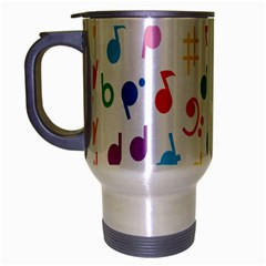 Musical Notes Travel Mug (silver Gray) by Mariart