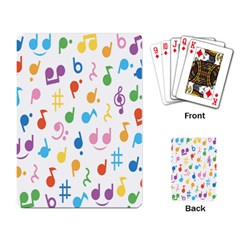 Musical Notes Playing Card by Mariart