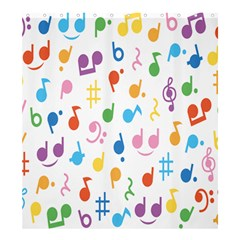 Musical Notes Shower Curtain 66  X 72  (large)  by Mariart