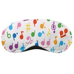 Musical Notes Sleeping Masks by Mariart