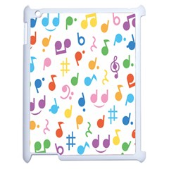 Musical Notes Apple Ipad 2 Case (white) by Mariart