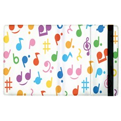 Musical Notes Apple Ipad 2 Flip Case by Mariart