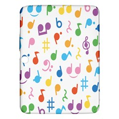 Musical Notes Samsung Galaxy Tab 3 (10 1 ) P5200 Hardshell Case  by Mariart