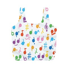 Musical Notes Full Print Recycle Bags (m)  by Mariart