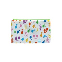 Musical Notes Cosmetic Bag (xs) by Mariart