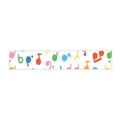 Musical Notes Flano Scarf (mini) by Mariart