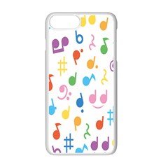 Musical Notes Apple Iphone 7 Plus White Seamless Case by Mariart