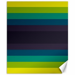 Neon Stripes Line Horizon Color Rainbow Yellow Blue Purple Black Canvas 20  X 24   by Mariart