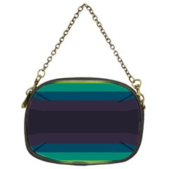 Neon Stripes Line Horizon Color Rainbow Yellow Blue Purple Black Chain Purses (two Sides)  by Mariart