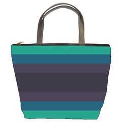 Neon Stripes Line Horizon Color Rainbow Yellow Blue Purple Black Bucket Bags by Mariart