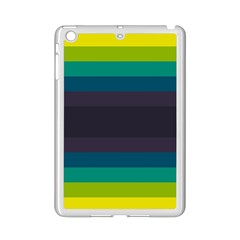 Neon Stripes Line Horizon Color Rainbow Yellow Blue Purple Black Ipad Mini 2 Enamel Coated Cases by Mariart
