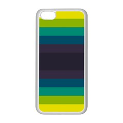 Neon Stripes Line Horizon Color Rainbow Yellow Blue Purple Black Apple Iphone 5c Seamless Case (white) by Mariart