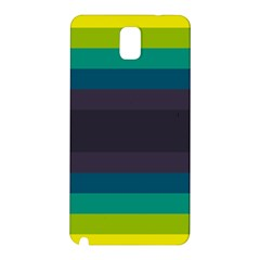 Neon Stripes Line Horizon Color Rainbow Yellow Blue Purple Black Samsung Galaxy Note 3 N9005 Hardshell Back Case by Mariart