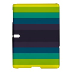 Neon Stripes Line Horizon Color Rainbow Yellow Blue Purple Black Samsung Galaxy Tab S (10 5 ) Hardshell Case  by Mariart