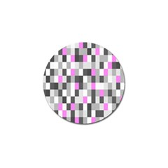 Pink Grey Black Plaid Original Golf Ball Marker by Mariart