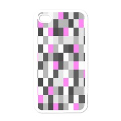Pink Grey Black Plaid Original Apple Iphone 4 Case (white) by Mariart
