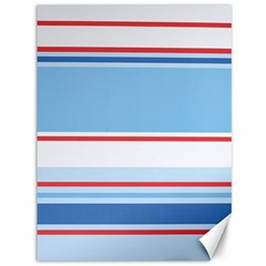 Navy Blue White Red Stripe Blue Finely Striped Line Canvas 36  X 48   by Mariart