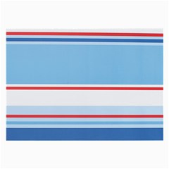 Navy Blue White Red Stripe Blue Finely Striped Line Large Glasses Cloth (2-side) by Mariart