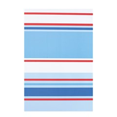 Navy Blue White Red Stripe Blue Finely Striped Line Shower Curtain 48  X 72  (small)  by Mariart