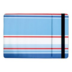 Navy Blue White Red Stripe Blue Finely Striped Line Samsung Galaxy Tab Pro 10 1  Flip Case by Mariart