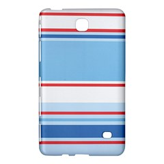 Navy Blue White Red Stripe Blue Finely Striped Line Samsung Galaxy Tab 4 (7 ) Hardshell Case  by Mariart