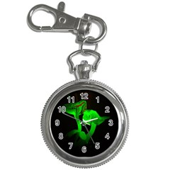Neon Green Resolution Mushroom Key Chain Watches by Mariart