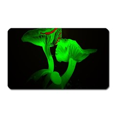 Neon Green Resolution Mushroom Magnet (rectangular) by Mariart