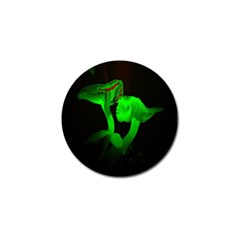 Neon Green Resolution Mushroom Golf Ball Marker by Mariart