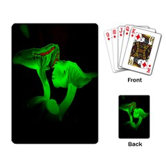 Neon Green Resolution Mushroom Playing Card by Mariart