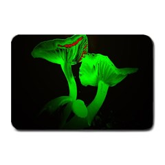 Neon Green Resolution Mushroom Plate Mats by Mariart