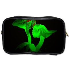 Neon Green Resolution Mushroom Toiletries Bags 2 Side by Mariart
