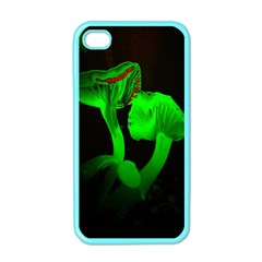 Neon Green Resolution Mushroom Apple Iphone 4 Case (color) by Mariart