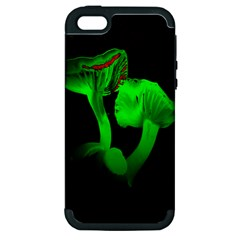 Neon Green Resolution Mushroom Apple Iphone 5 Hardshell Case (pc+silicone) by Mariart