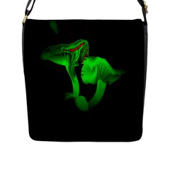 Neon Green Resolution Mushroom Flap Messenger Bag (l)  by Mariart