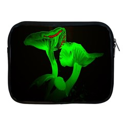 Neon Green Resolution Mushroom Apple Ipad 2/3/4 Zipper Cases by Mariart
