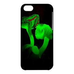 Neon Green Resolution Mushroom Apple Iphone 5c Hardshell Case by Mariart