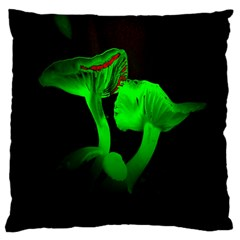Neon Green Resolution Mushroom Large Flano Cushion Case (one Side) by Mariart