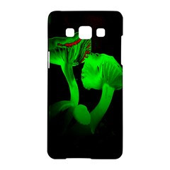 Neon Green Resolution Mushroom Samsung Galaxy A5 Hardshell Case  by Mariart