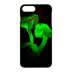 Neon Green Resolution Mushroom Apple Iphone 7 Plus Hardshell Case by Mariart