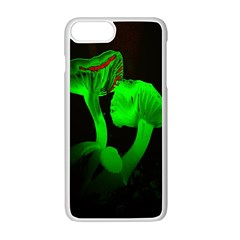 Neon Green Resolution Mushroom Apple Iphone 7 Plus White Seamless Case by Mariart