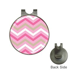 Pink Red White Grey Chevron Wave Hat Clips With Golf Markers by Mariart