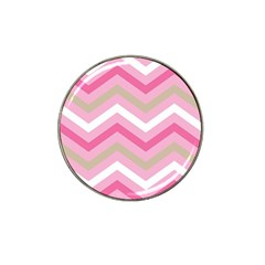 Pink Red White Grey Chevron Wave Hat Clip Ball Marker by Mariart