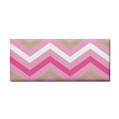 Pink Red White Grey Chevron Wave Cosmetic Storage Cases by Mariart