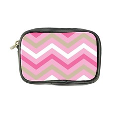 Pink Red White Grey Chevron Wave Coin Purse by Mariart