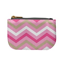 Pink Red White Grey Chevron Wave Mini Coin Purses by Mariart