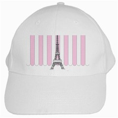 Pink Paris Eiffel Tower Stripes France White Cap by Mariart