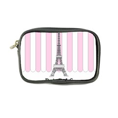 Pink Paris Eiffel Tower Stripes France Coin Purse by Mariart
