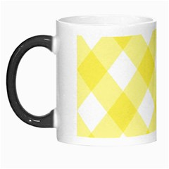 Plaid Chevron Yellow White Wave Morph Mugs by Mariart