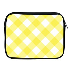 Plaid Chevron Yellow White Wave Apple Ipad 2/3/4 Zipper Cases by Mariart