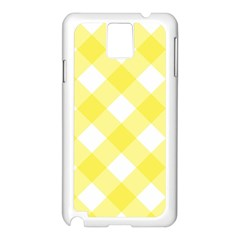 Plaid Chevron Yellow White Wave Samsung Galaxy Note 3 N9005 Case (white) by Mariart
